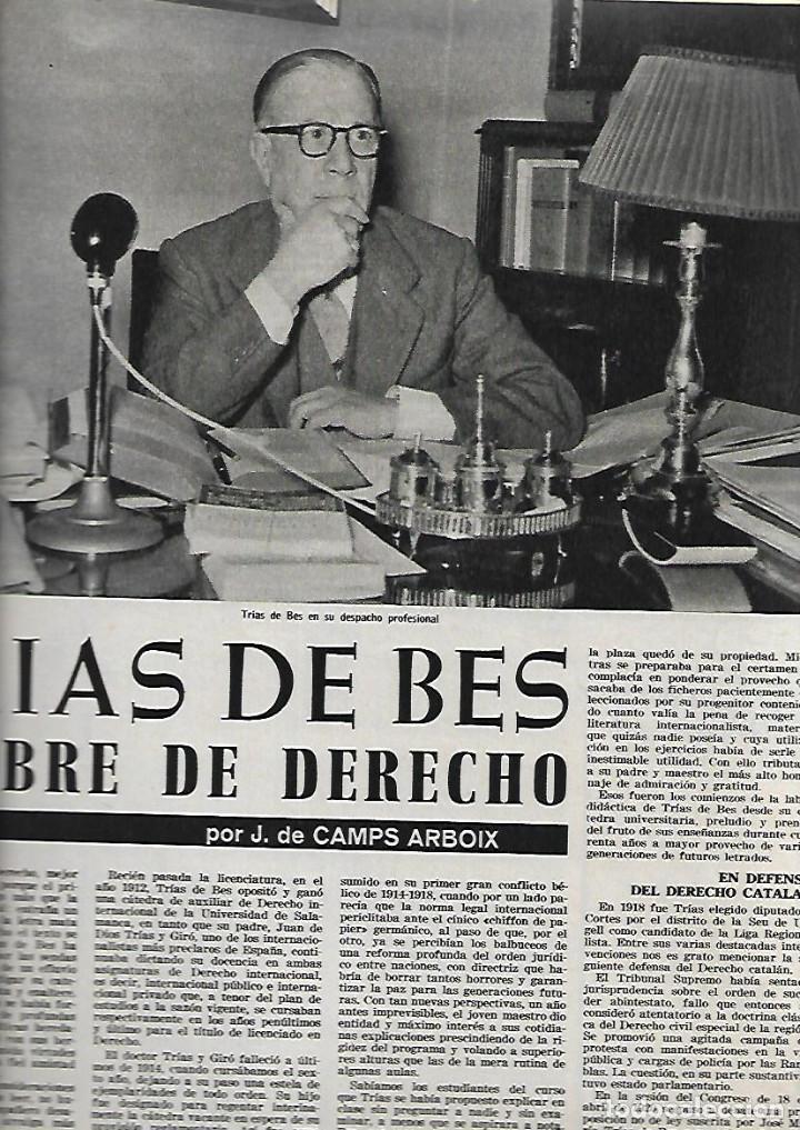 Coleccionismo de Revista Destino: 1965 OPERA MISTERI ELCHE MAR MENOR FELIPE II AEROPUERTO GIRONA TRIAS DE BES REINA ELISABETH BELGICA - Foto 6 - 11879192