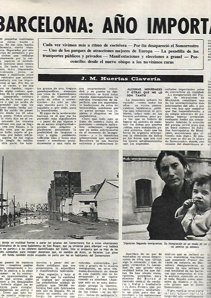 Coleccionismo de Revista Destino: AÑO 1967 BARCELONA URBANISMO LOS JUDIOS MALLORQUINES SALVADOR DE MADARIAGA NOMENCLATURA CASTILLOS - Foto 3 - 11880919