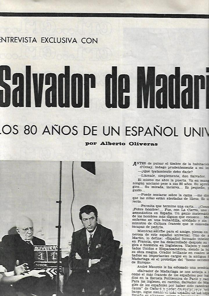 Coleccionismo de Revista Destino: AÑO 1967 BARCELONA URBANISMO LOS JUDIOS MALLORQUINES SALVADOR DE MADARIAGA NOMENCLATURA CASTILLOS - Foto 5 - 11880919