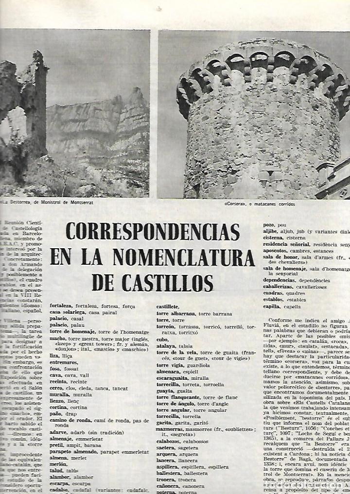 Coleccionismo de Revista Destino: AÑO 1967 BARCELONA URBANISMO LOS JUDIOS MALLORQUINES SALVADOR DE MADARIAGA NOMENCLATURA CASTILLOS - Foto 6 - 11880919