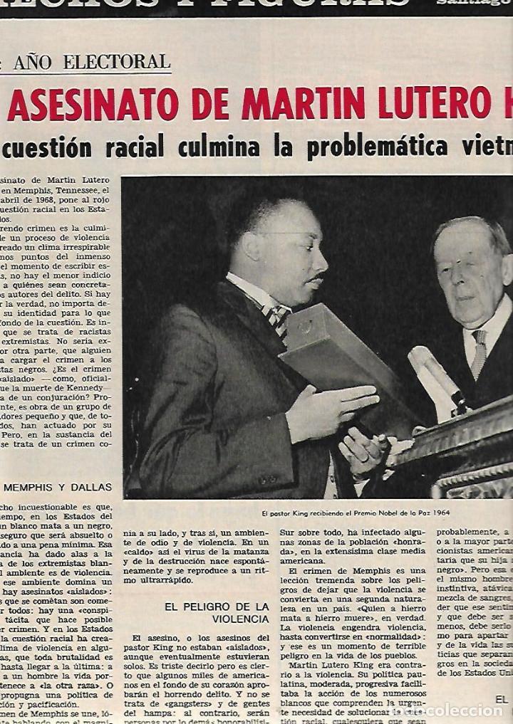 Coleccionismo de Revista Destino: ÑO 1968 ASESINATO MARTIN LUTERO KING MARAGALL Y LA CRISIS DEL 98 SEAT 850 COUPE SIBILAS LAGO PILATOS - Foto 2 - 11931343