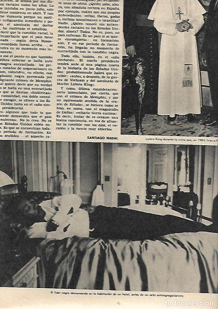 Coleccionismo de Revista Destino: ÑO 1968 ASESINATO MARTIN LUTERO KING MARAGALL Y LA CRISIS DEL 98 SEAT 850 COUPE SIBILAS LAGO PILATOS - Foto 3 - 11931343