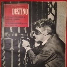 Coleccionismo de Revista Destino: DESTINO - 6 JUNIO 1959 - I COLOQUIO INTERNACIONAL NOVELA EN FORMENTOR (MALLORCA) - SUIZA PER J. PLÀ. Lote 191419786