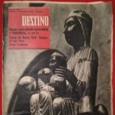 Coleccionismo de Revista Destino: DESTINO -25 ABRIL 1959 - NASSER / KEATON / DULLES / POBLET / MOULIN ROUGE. Lote 191423772