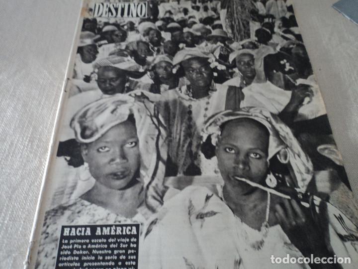 REVISTA DESTINO Nº1067- 1958 CARMEN MARTIN GAITE VER FOTOS (Coleccionismo - Revistas y Periódicos Modernos (a partir de 1.940) - Revista Destino)