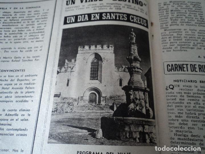 Coleccionismo de Revista Destino: REVISTA DESTINO Nº1067- 1958 carmen martin gaite ver fotos - Foto 9 - 192227192