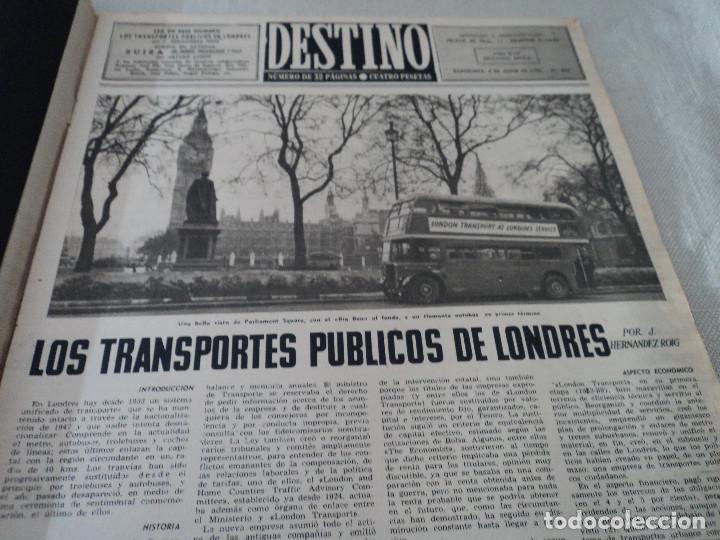 Coleccionismo de Revista Destino: REVISTA DESTINO Nº826- 1953 coronacion isabel II, ver fotos - Foto 3 - 192227386
