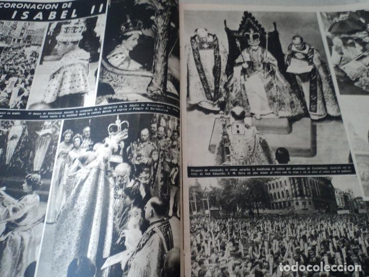 Coleccionismo de Revista Destino: REVISTA DESTINO Nº826- 1953 coronacion isabel II, ver fotos - Foto 5 - 192227386