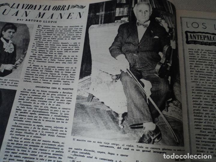 Coleccionismo de Revista Destino: REVISTA DESTINO Nº 862- 1954 EL CIRCO, JUAN MANEN VIOLINISTA , ver fotos - Foto 3 - 192227787