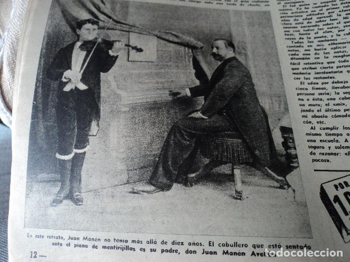 Coleccionismo de Revista Destino: REVISTA DESTINO Nº 862- 1954 EL CIRCO, JUAN MANEN VIOLINISTA , ver fotos - Foto 4 - 192227787