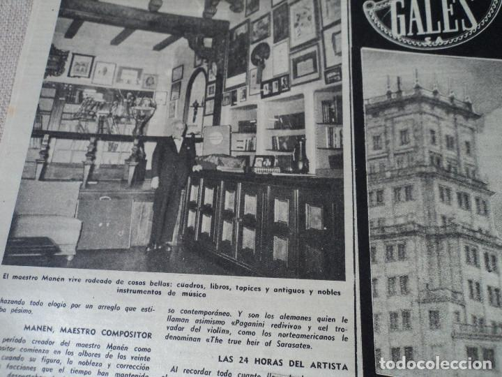 Coleccionismo de Revista Destino: REVISTA DESTINO Nº 862- 1954 EL CIRCO, JUAN MANEN VIOLINISTA , ver fotos - Foto 5 - 192227787