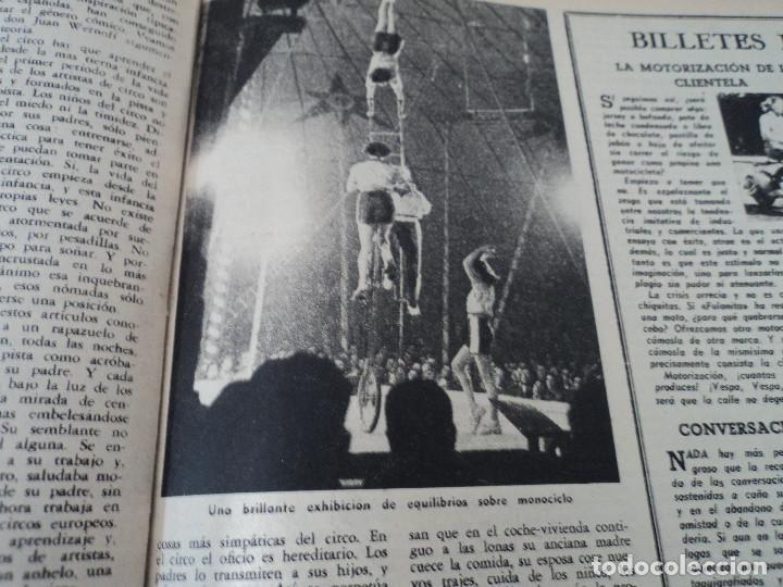 Coleccionismo de Revista Destino: REVISTA DESTINO Nº 862- 1954 EL CIRCO, JUAN MANEN VIOLINISTA , ver fotos - Foto 8 - 192227787
