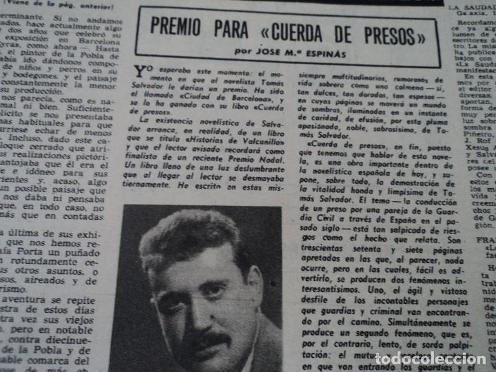 Coleccionismo de Revista Destino: REVISTA DESTINO Nº 862- 1954 EL CIRCO, JUAN MANEN VIOLINISTA , ver fotos - Foto 10 - 192227787