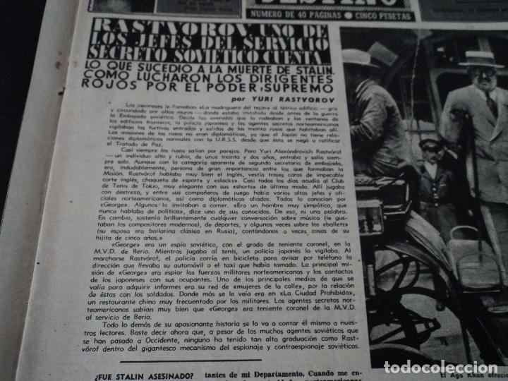Coleccionismo de Revista Destino: REVISTA DESTINO Nº 915- 1955 RASTVOROV SERVICIO SECRETO SOVIETICO , ver fotos - Foto 3 - 192227936