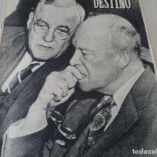 Coleccionismo de Revista Destino: REVISTA DESTINO Nº 874- 1954 DALI, CHAPLIN, LOS MONEGROS , VER FOTOS. Lote 192240521