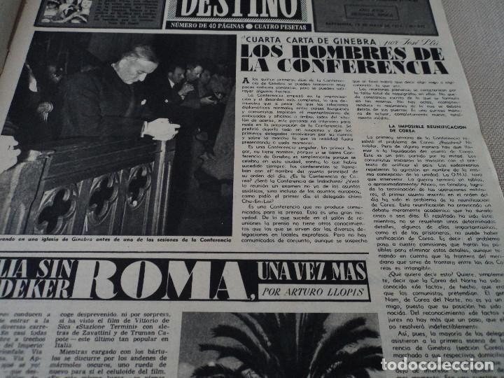 Coleccionismo de Revista Destino: REVISTA DESTINO Nº 875- 1954 EL PADRE PIERRE, ver fotos - Foto 3 - 192240723