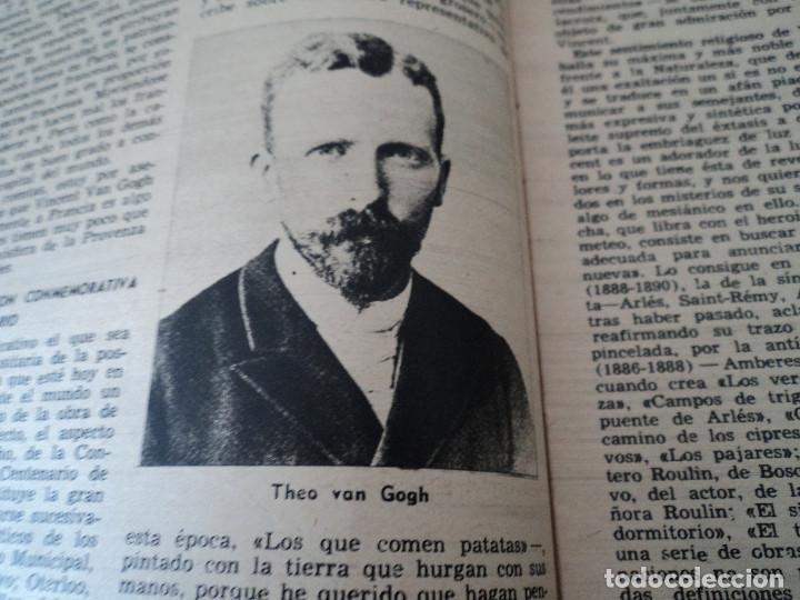 Coleccionismo de Revista Destino: REVISTA DESTINO Nº 827- 1953 VAN GOGH, ver fotos - Foto 5 - 192240968