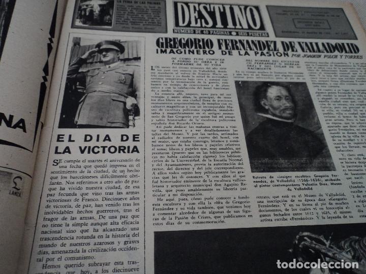 Coleccionismo de Revista Destino: REVISTA DESTINO LA FERIA DE LAS PALMAS Nº 1077, AÑO 1958 ver fotos - Foto 3 - 192242733