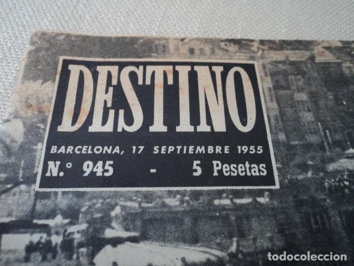 Coleccionismo de Revista Destino: REVISTA DESTINO EL JAPONES EN ZAPATILLAS Nº 945, AÑO 1955 ver fotos - Foto 2 - 192242841
