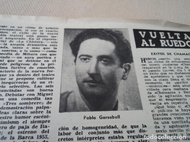 Coleccionismo de Revista Destino: REVISTA DESTINO PABLO GARSABALL Nº 883, AÑO 1954 ver fotos - Foto 12 - 192243237