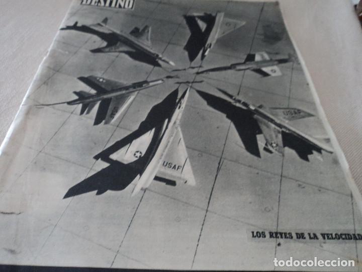 REVISTA DESTINO JUAN ESTELRICH Nº 1090, AÑO 1958 VER FOTOS (Coleccionismo - Revistas y Periódicos Modernos (a partir de 1.940) - Revista Destino)