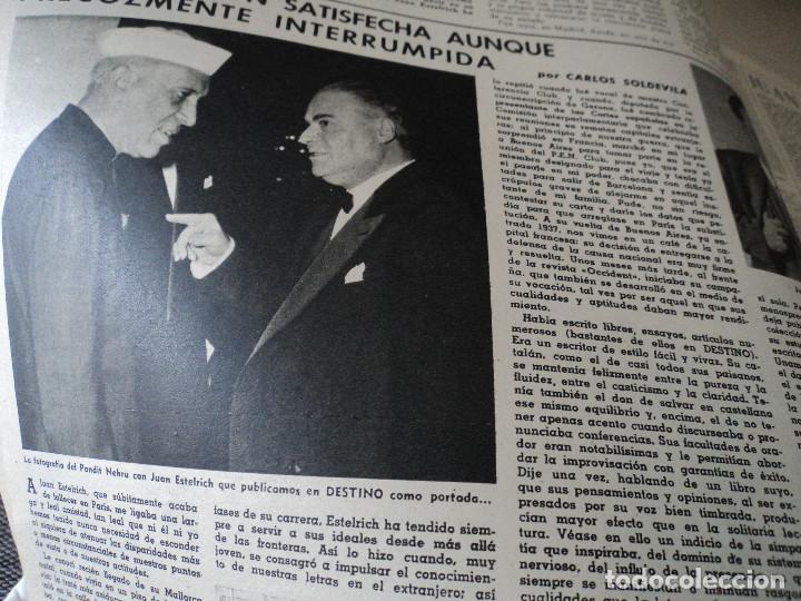 Coleccionismo de Revista Destino: REVISTA DESTINO JUAN ESTELRICH Nº 1090, AÑO 1958 ver fotos - Foto 4 - 192243400