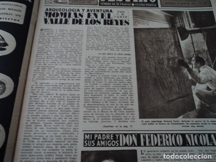 Coleccionismo de Revista Destino: REVISTA DESTINO Nº 972, AÑO 1953 MOMIAS EN EL VALLE DE LOS REYES ver fotos - Foto 3 - 192243718