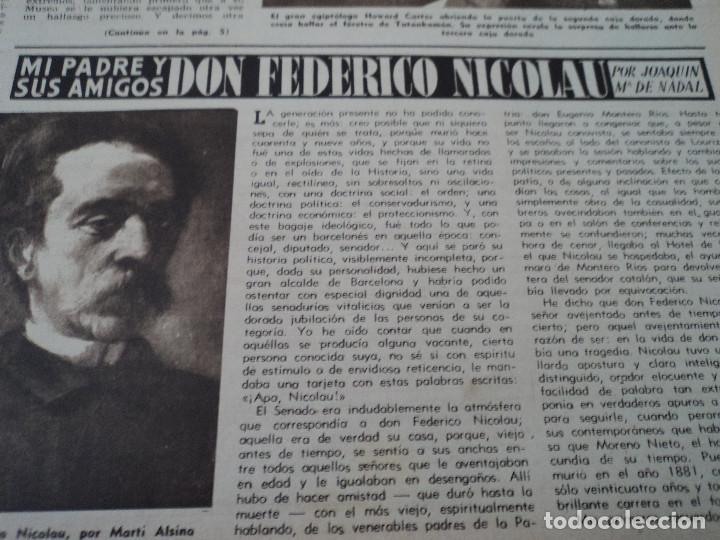 Coleccionismo de Revista Destino: REVISTA DESTINO Nº 972, AÑO 1953 MOMIAS EN EL VALLE DE LOS REYES ver fotos - Foto 4 - 192243718