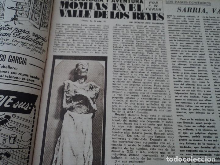 Coleccionismo de Revista Destino: REVISTA DESTINO Nº 972, AÑO 1953 MOMIAS EN EL VALLE DE LOS REYES ver fotos - Foto 5 - 192243718