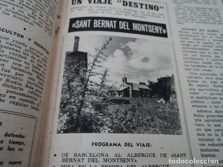 Coleccionismo de Revista Destino: REVISTA DESTINO Nº 1039 AÑO VICTORIA DE LOS ANGELES1957 ver fotos - Foto 8 - 192243878