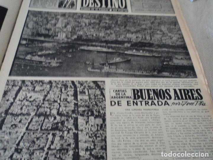 Coleccionismo de Revista Destino: REVISTA DESTINO Nº 1070 AÑO 1958 buenos aires de entrada ver fotos - Foto 3 - 192247321