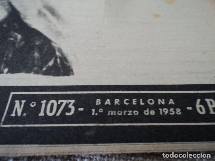 Coleccionismo de Revista Destino: REVISTA DESTINO Nº 1073 AÑO 1958 juan lopez ibor ver fotos - Foto 2 - 192247403
