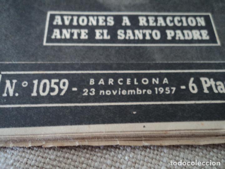 Coleccionismo de Revista Destino: REVISTA DESTINO Nº 1059 AÑO 1957 aviones a reaccion ante el santo padre ver fotos - Foto 2 - 192247670