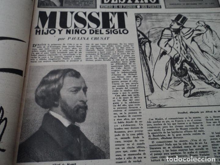 Coleccionismo de Revista Destino: REVISTA DESTINO Nº 1059 AÑO 1957 aviones a reaccion ante el santo padre ver fotos - Foto 3 - 192247670