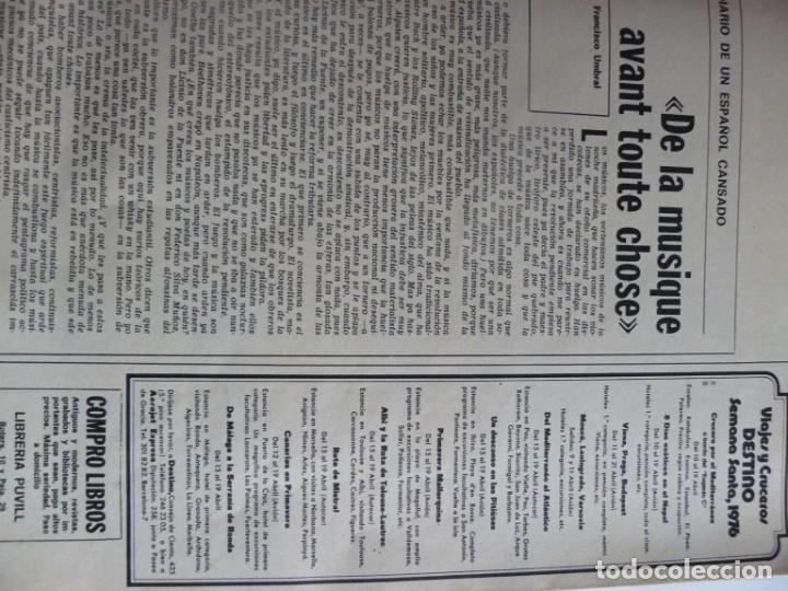 Coleccionismo de Revista Destino: REVISTA DESTINO - 17 DE MARZO DE 1976 - LOS PARTIDOS CATALANES - Nº 2006 - Foto 2 - 192264466