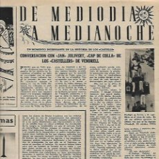 Collectionnisme de Magazine Destino: AÑO 1956 JOAQUIN COSTA CENTENARIO TERRY COVENT GARDEN JAN JULIVERT CAP COLLA CASTELLERS VENDRELL. Lote 11936425