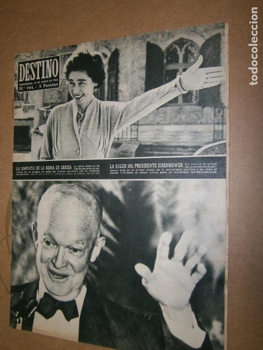 DESTINO Nº 984 AÑO 1984 LA SIMPATIA DE LA REINA DE GRECIA (Coleccionismo - Revistas y Periódicos Modernos (a partir de 1.940) - Revista Destino)
