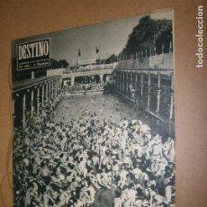 Coleccionismo de Revista Destino: DESTINO Nº 989 AÑO 1956 FRANCIA LA PROCESION VA POR DENTRO. Lote 194717638