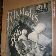 Coleccionismo de Revista Destino: DESTINO Nº 960 AÑO 1955 FELICIDADES 1956. Lote 194718376