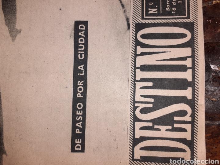 Coleccionismo de Revista Destino: Periódico Destino - Foto 3 - 194767312