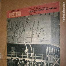 Coleccionismo de Revista Destino: DESTINO Nº 1444 AÑO 1956 ¿PARA QUE SIRVEN LAS PIERNAS?. Lote 195223638