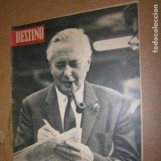 Coleccionismo de Revista Destino: DESTINO Nº 1496 AÑO 1966 LA GRAN VICTORIA DE HAROLD WILSON. Lote 195224570