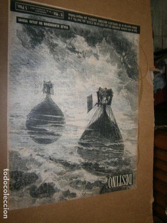 DESTINO Nº 954 AÑO 1955 VIAJE ALREDEDOR DE JULIO VERNE (Coleccionismo - Revistas y Periódicos Modernos (a partir de 1.940) - Revista Destino)