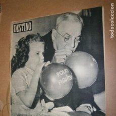 Coleccionismo de Revista Destino: DESTINO Nº 967 AÑO 1956 LA CAMPAÑA CONTRA LA POLIOMELITIS. Lote 195306945
