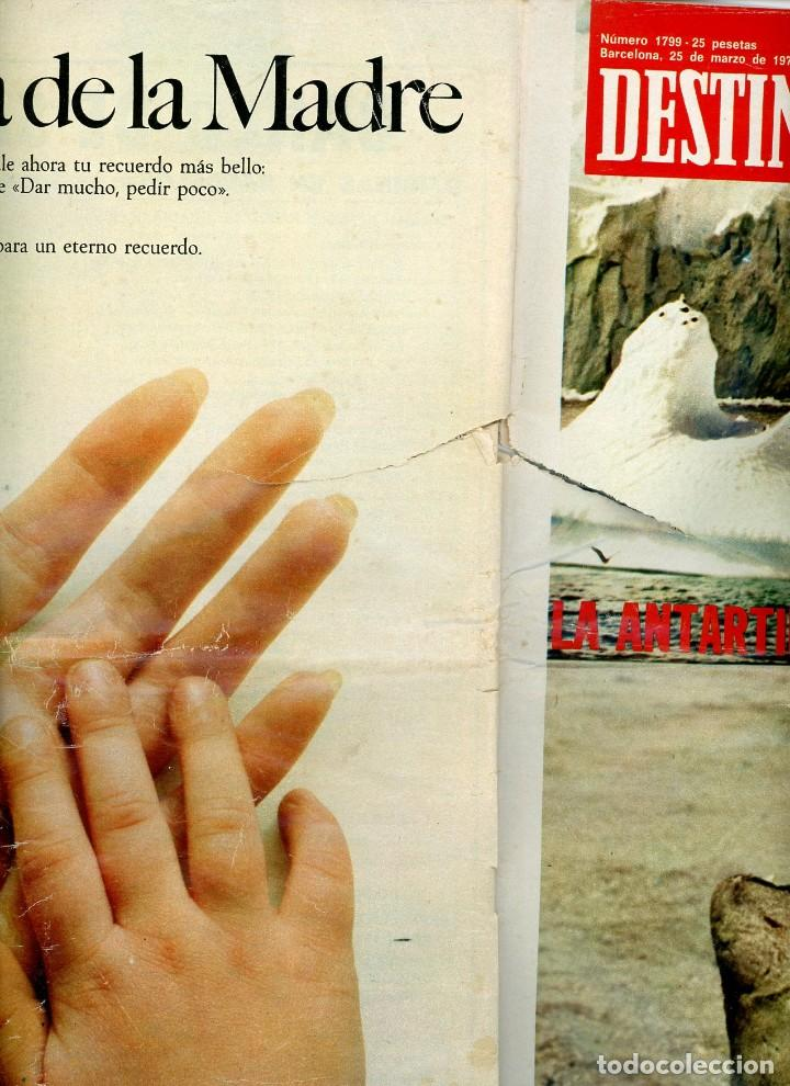 Coleccionismo de Revista Destino: DESTINO nº 1799 Barcelona, 25 de marzo de 1972 - Foto 3 - 195308236