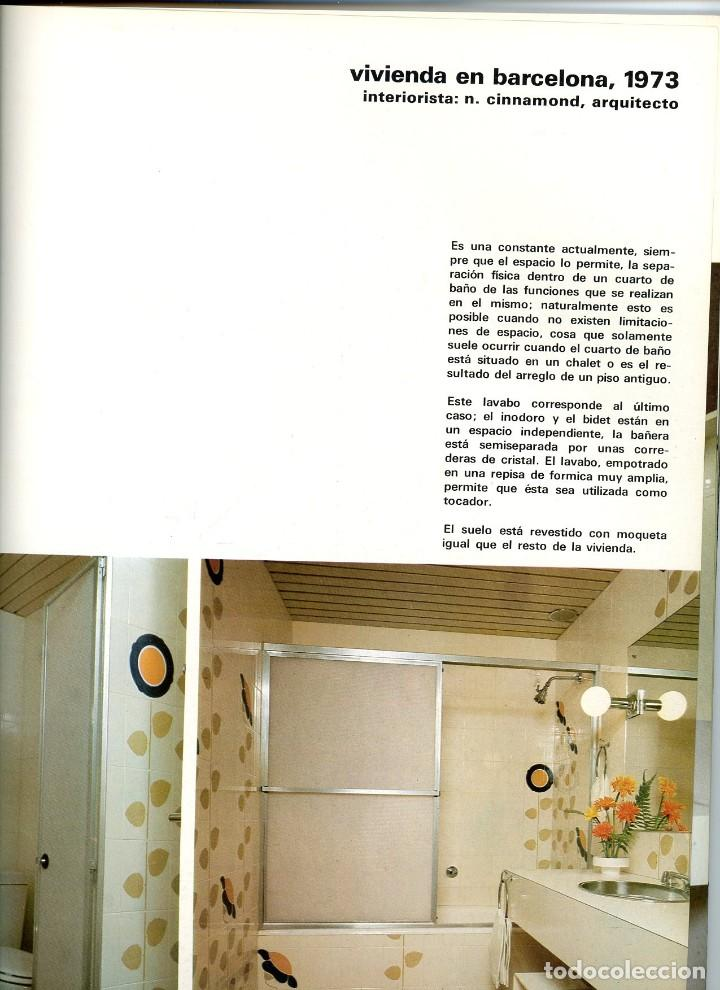 Coleccionismo de Revista Destino: Nuevo Ambiente, cuadernos monográficos de decoración. Nº 21 Cuartos de baño. 1973 - Foto 3 - 195309012