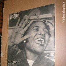 Coleccionismo de Revista Destino: DESTINO Nº 970 AÑO 1956 MOMENTO DE CRISIS ENTRE BLANCOS Y NEGROS. Lote 195317543