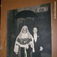 Coleccionismo de Revista Destino: DESTINO Nº 1001 AÑO 1956 UN PARAGUAS PARA EL LORD. Lote 195410992