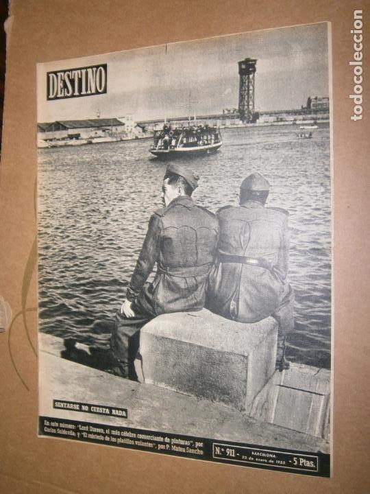 DESTINO Nº 911 AÑO 1955 SENTARSE NO CUESTA NADA (Coleccionismo - Revistas y Periódicos Modernos (a partir de 1.940) - Revista Destino)