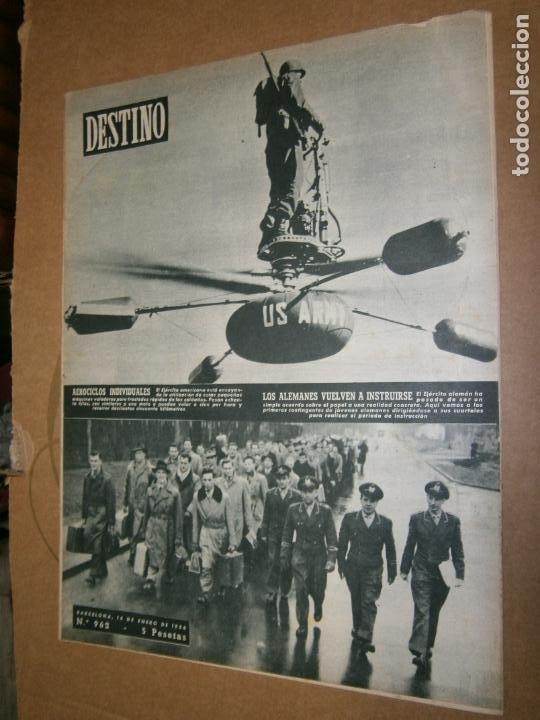DESTINO Nº 962 AÑO 1956 LOS ALEMANES VUELVEN A INSTRUIRSE (Coleccionismo - Revistas y Periódicos Modernos (a partir de 1.940) - Revista Destino)